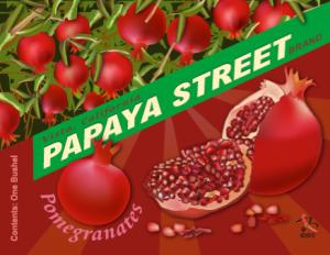 Fruit Crate Label, Papaya Street Pomegranets