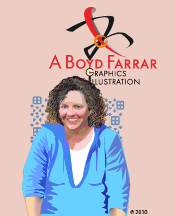 My self portrait in Illustrator